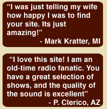 Vintage Radio Shows testimonial